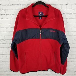 CHAPS   full zip fleece sweater jacket